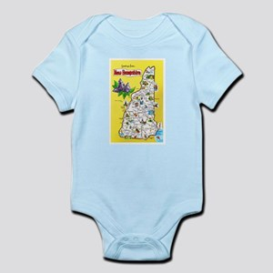 New Hampshire Map Greetings Infant Bodysuit