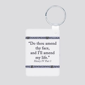 Do Thou Amend Thy Face Aluminum Photo Keychain