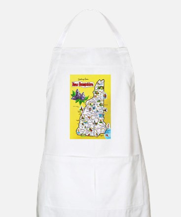 New Hampshire Map Greetings Apron