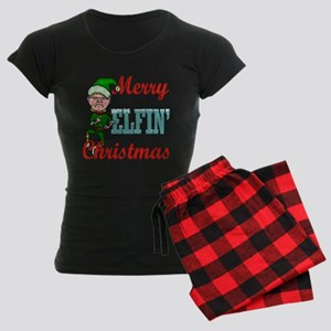 Funny Elfin Christmas Women's Dark Pajamas