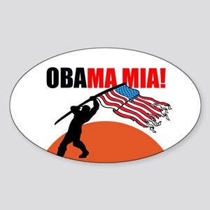 Obamamia! Sticker (Oval)