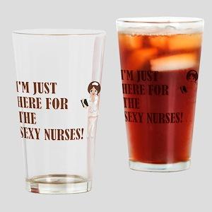 SEXY NURSES Drinking Glass