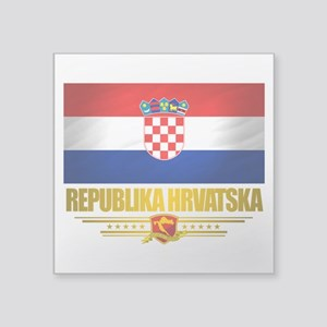 "Croatia (Flag 10) Square Sticker 3"" x 3"""