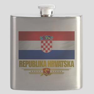 Croatia (Flag 10) Flask