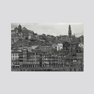 Ribeira b/w Rectangle Magnet