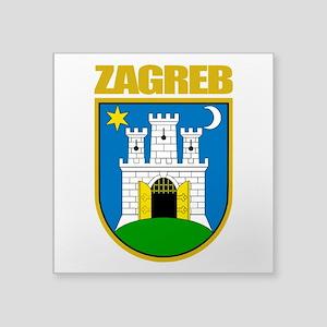 """Zagreb COA Square Sticker 3"""" x 3"""""""