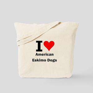 I Love American Eskimo Dogs Tote Bag