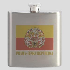 Praha (Prague) Flag COA Flask