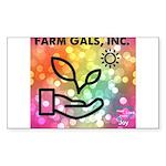Farm Gals, Inc. Sticker (Rectangle 10 pk)