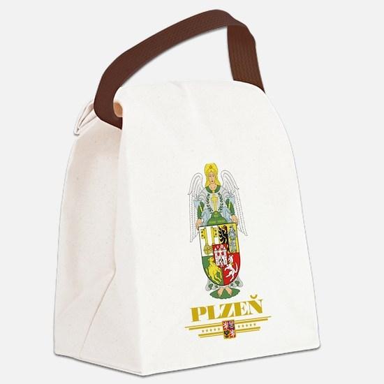 Plzen COA (Flag 10).png Canvas Lunch Bag