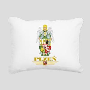 Plzen COA (Flag 10) Rectangular Canvas Pillow