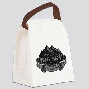 Big Sky Mountain Emblem Canvas Lunch Bag