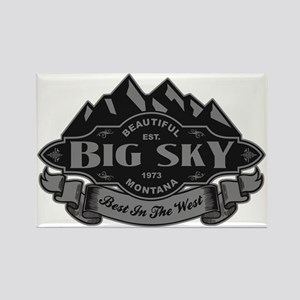 Big Sky Mountain Emblem Rectangle Magnet