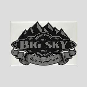 Big Sky Mountain Emblem Rectangle Magnet