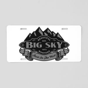 Big Sky Mountain Emblem Aluminum License Plate