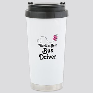 Cute Bus Driver Gift Stainless Steel Travel Mug