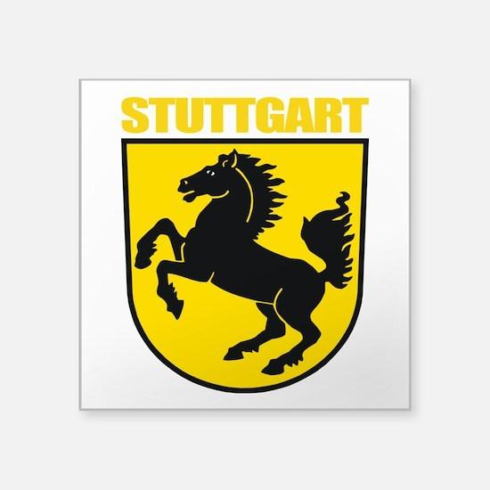 "Stuttgart (gold).png Square Sticker 3"" x 3"""