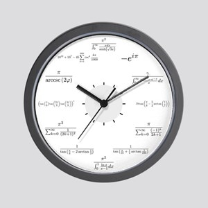 Math Wall Clock (white background)