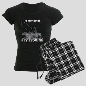 Fly Fishing Women's Dark Pajamas