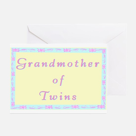"""""""Baby Twins Grandmother"""" Greeting Cards (Pack of 6"""