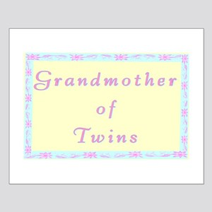 """""""Baby Twins Grandmother"""" Small Poster"""