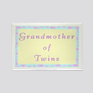 """Baby Twins Grandmother"" Rectangle Magnet"
