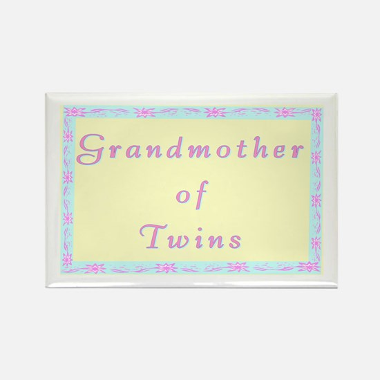 """""""Baby Twins Grandmother"""" Rectangle Magnet"""