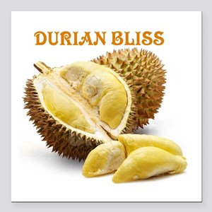 """Durian Bliss Square Car Magnet 3"""" x 3"""""""