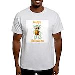 Happy Halloween Ghost Kitten Ash Grey T-Shirt