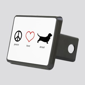 Peace, Love, Drool Rectangular Hitch Cover