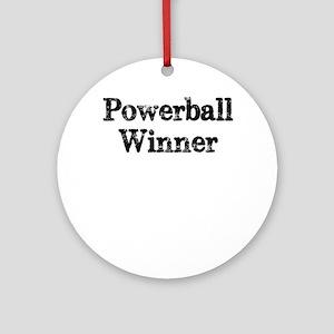Powerball winner lotto jackpot Ornament (Round)