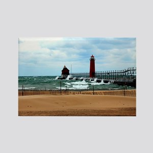 Lake Michigan Beach Rectangle Magnet