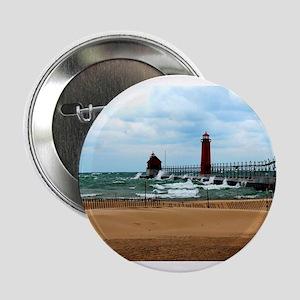 "Lake Michigan Beach 2.25"" Button"