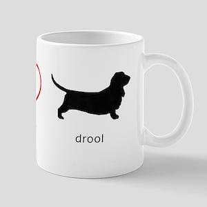 Peace, Love, Drool Mug