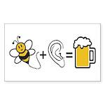 Bee Plus Ear Sticker (Rectangle 10 pk)