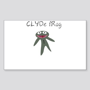Clyde frog Sticker (Rectangle)
