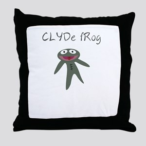 Clyde frog Throw Pillow