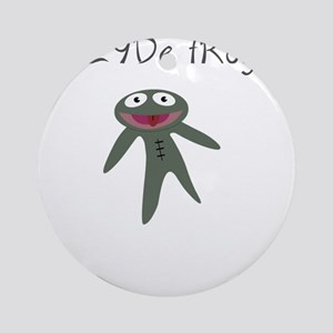 Clyde frog Ornament (Round)
