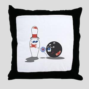 Bowling1 Throw Pillow