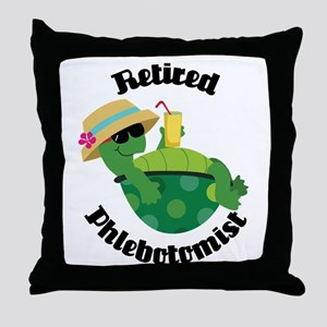 Retired Phlebotomist Gift Throw Pillow
