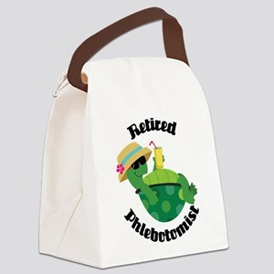 Retired Phlebotomist Gift Canvas Lunch Bag