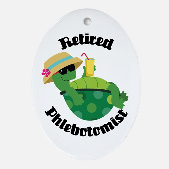 Retired Phlebotomist Gift Ornament (Oval)