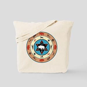 White Buffalo Medicine Wheel Tote Bag