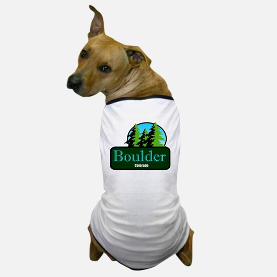 Boulder Colorado t shirt truck stop novelty Dog T-