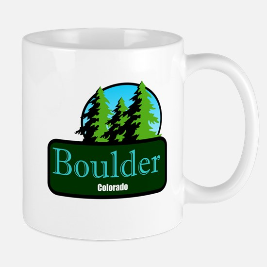 Boulder Colorado t shirt truck stop novelty Mug