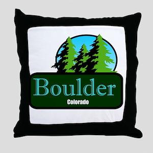 Boulder Colorado t shirt truck stop novelty Throw