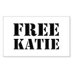Free Katie Sticker (Rectangle 10 pk)