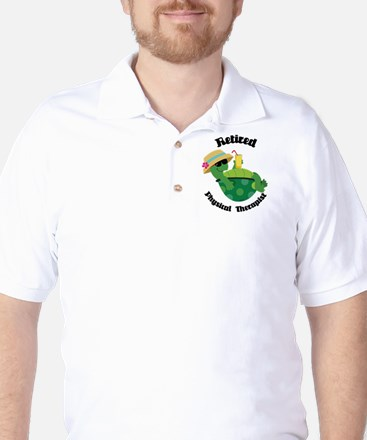 Retired Physical Therapist Gift Golf Shirt