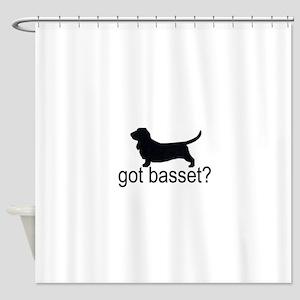 got basset? Shower Curtain
