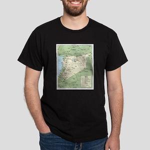 Syria Iraq Turkey Jordan map Dark T-Shirt